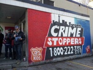Graffiti Community Building Supported By Toronto Crime Stoppers @1800222tips & ProAction Cops And Kids @CopsAndKidsca at 2012 Graffiti Art Mural Unveiling in Rexdale, the northwest part of Toronto in the 23 Division Police Area