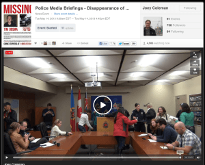 Hamilton Police Service Media Gallery May 14, 2013 at the Tim Bosma press conference screen captured remotely from @LiveStream of @JoeyColeman by Constable Scott Mills @GraffitiBMXCop