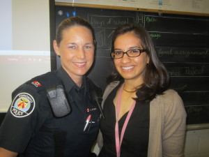 Grade 7 teacher Sara Asif @Miss_Asif and Toronto Police Service officer Laurie McCann @AnalyzeThis5253 talked about Social Media And The Law with students June 11, 2013 at Bliss Carmen Senior Public School in Scarborough