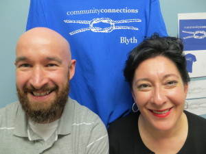 Blyth Academy Guidance Counsellor Patrick Butler and Angel Freedman 300x225 Community Connections at Blyth Academy Thornhill For Success & Safety @BlythEducation